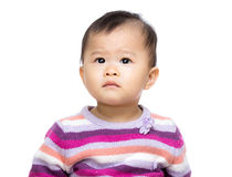 Baby looking up Royalty Free Stock Image