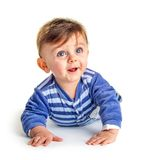 Baby looking up Stock Photography