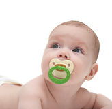 Baby looking upwards Royalty Free Stock Photo