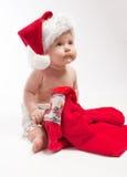 Baby looks up Stock Photo
