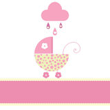 Baby love. Vector illustration of baby girl arrival card Stock Photo