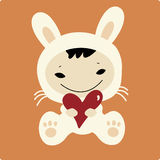 Baby with love. Vector Illustration of baby with love Stock Image