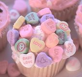 Baby Love Cupcake. Cupcake for your valentine baby and parents Royalty Free Stock Photography