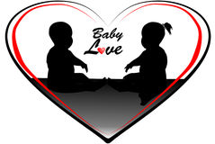 Baby Love illustration Royalty Free Stock Photo