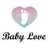 Baby Love Logo Illustration Design Stock Image