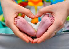 Baby in love stock photography