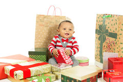 Baby Loving Christmas Royalty Free Stock Image