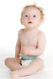 Baby in luier Royalty-vrije Stock Afbeelding