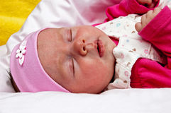 Baby lying Royalty Free Stock Photo