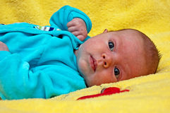 Baby lying Stock Images