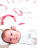 Baby lying on blanket Royalty Free Stock Photography