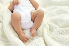 Baby lying on the blanket Royalty Free Stock Photography