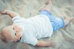 Baby lying Royalty Free Stock Image
