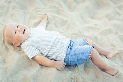 Baby lying Royalty Free Stock Photography
