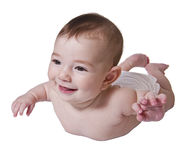 Baby lying down Royalty Free Stock Photos