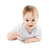 Baby lying on his stomach Royalty Free Stock Photo