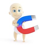 Baby magnetic field 3d Illustrations. On a white background Royalty Free Stock Image