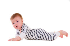 Baby makes developing exercises Stock Image