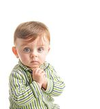 Baby making a wish Stock Images