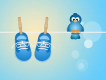 Baby male shoes Royalty Free Stock Image
