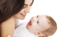 Baby and mama Stock Photos