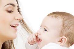 Baby and mama royalty free stock photo