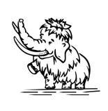 Baby-Mammut Stockbild