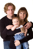 Baby, man and woman - young family Stock Photo