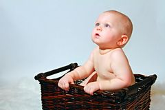 Baby in Mand Stock Fotografie