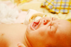 Baby Maria #15. Crying little baby Stock Image