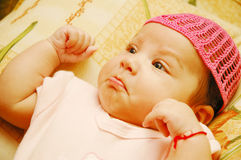 Baby Maria #37. Beautiful little baby starting to cry Stock Photo