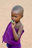 Baby masai in kenya Stock Photos