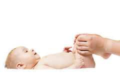 Baby massage Royalty Free Stock Photos