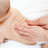 Baby massage Royalty Free Stock Images