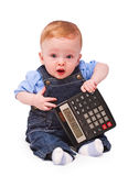 Baby - mathematician Stock Photos