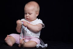 Baby measuring Royalty Free Stock Photography