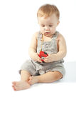 Baby with a measuring tape Royalty Free Stock Photos