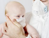 Baby in a medical mask Royalty Free Stock Images