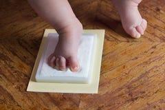 Baby memory prints Stock Photography