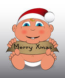 Baby Merry Xmas Stock Photography