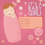 Baby message card Stock Photo