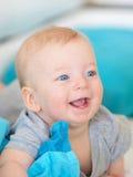 Baby met blauwe ogen Royalty-vrije Stock Fotografie
