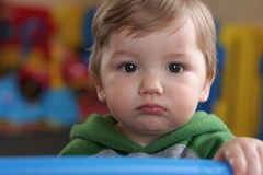Baby met bolle kop Royalty-vrije Stock Fotografie