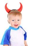 Baby met Duivelshoornen Stock Foto's