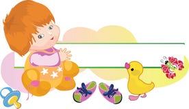 Baby met een eend en van de baby model vector illustratie
