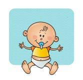 Baby met een fopspeen Stock Fotografie