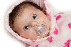 Baby met fopspeen stock afbeelding