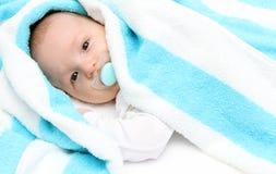 Baby met fopspeen Royalty-vrije Stock Foto's