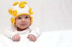 Baby met gebreide hoed Royalty-vrije Stock Foto