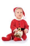 Baby met huismodel stock fotografie
